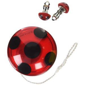 Miraculous Ladybug Yo-Yo and Clip-On Earrings Accessory Set