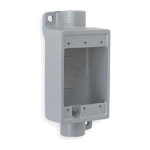 """Killark FSC-2M FSC Type Cast Device Box 3/4"""" Hub Shallow Feed-Thru Duraloy Iron"""