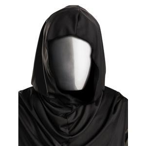 No Face Chrome Plastic Hidden Face Mask