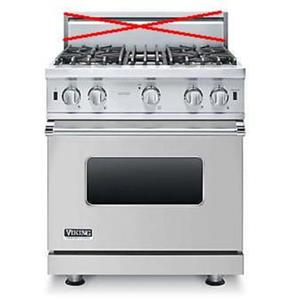 Viking 5 Series 30 Inch Pro-Style SureSpark Convection Gas Range VGIC53014BSS