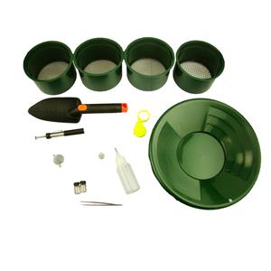 "Ultimate Clean Up Kit-12"" Gold Pan-4-10-30-60 Mesh Screens Vials Snuffer Magnet"