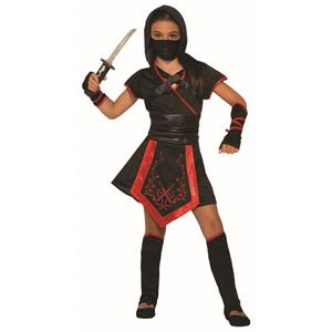 Dragon Blade Ninja Girls Halloween Costume Large 12-14