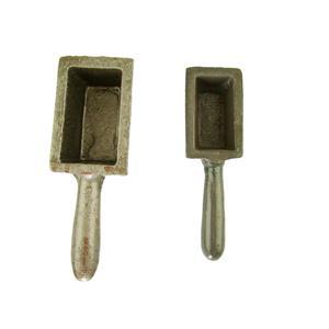 20oz and 60 oz Gold Bar Loaf Cast Iron Ingot Mold Scrap Gold,Copper,Aluminum