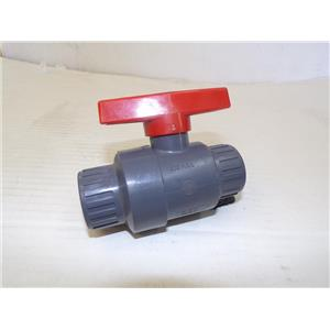 "Colonial Valves V08191N Supper C 3/4"" Socket PVC Compact Industrial Ball Valve"