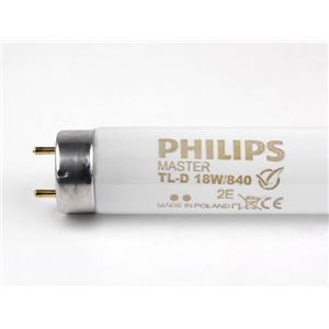 Philips Master Tl-D 18W/840 Fluorescent Cool White Light Tube Bulb 2Pk