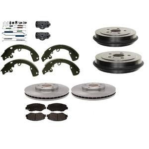 Dodge Neon Frt Rotors Pads Rear Drums & Shoes Wheel Cylinder Springs 2000-2005