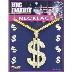 Big Bad Jewelry $ Dollar Sign Pimp Daddy Necklace
