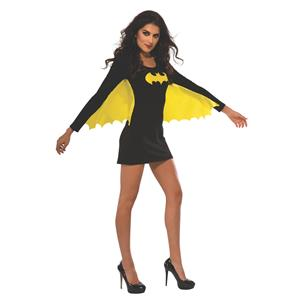 DC Superheroes Batgirl Wing Dress Adult Sexy Costume Size Large