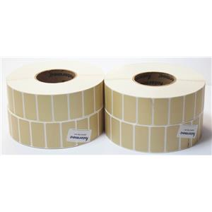 "Lot of 4 Intermec E23067 DuraTran II Gloss Polyester 2"" x 1"" 2823 Thermal Label"
