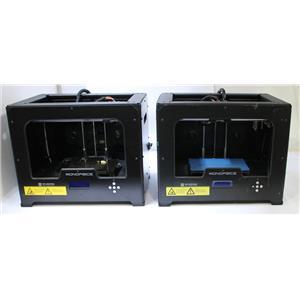 Lot of 2 Monoprice 11614 Dual Extrusion Desktop 3D Printers