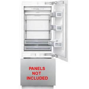 """Thermador 30"""" 16 cu. ft. Built-in LED Flush Lights CP Refrigerator T30IB800SP"""