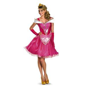 Aurora Fab Sexy Disney Princess Sleeping Beauty Dress Deluxe Costume Medium 8-10