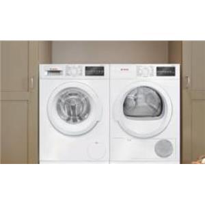 Bosch 300 Front Load Washer Dryer White WAT28400UC / WTG86400UC Description