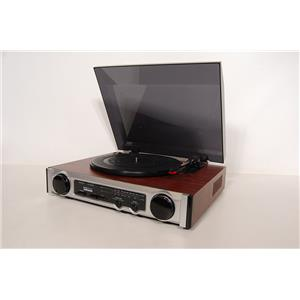Technosonic MT-PH02 Turntable/Radio With Built-in Speakers