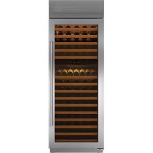 """Sub-Zero 30"""" 147-Bottle Dual Temperature Zones Wine Storage WS30SPHRH"""