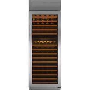 "Sub-Zero 30"" SS 147-Bottle Dual Temperature Zones Wine Storage WS30SPHRH"
