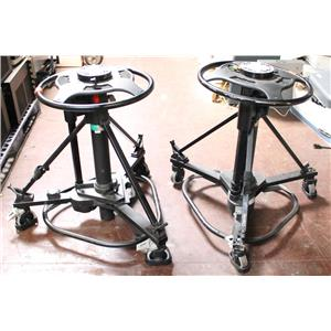 Pair of Vinten V3950 Osprey Light Camera / Studio Pedestals AS-IS