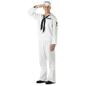 White Seaman Adult Navy Military Costume Large