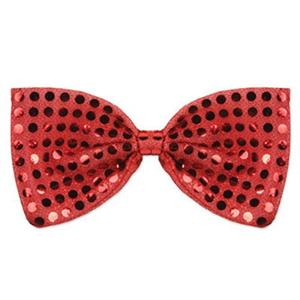 Red Glitz 'N Gleam Sequin Bow Tie Costume Accessory