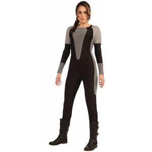 Katniss Gray and Black Adult Hunger Jumpsuit Games XS/SM 2-6