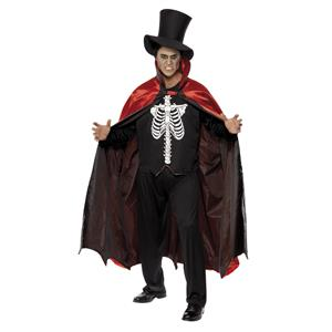 Reversible Vampire/Skeleton Adult Costume Medium 38-40