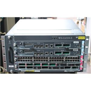 Cisco WS-C6504-E Chassis w 2x VS-SUP2T-10G, WS-X6848-GE-TX & WS-X6816-10GE DFC4