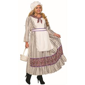 Western Pioneer Woman Plus Size Adult Costume