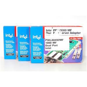 Lot of 3 New Intel PWLA8492MF Pro/1000MF Dual Port Server Adapter