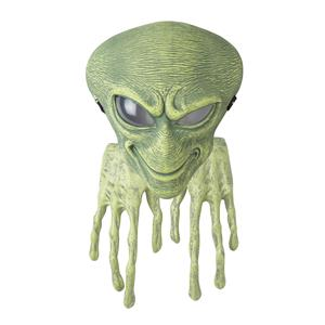 Child Green Alien Mask and Hands Costume Set