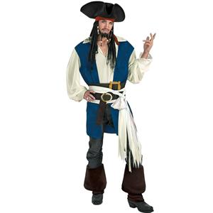 Jack Sparrow Pirates Of The Caribbean Deluxe Costume: Men's Size 42-46