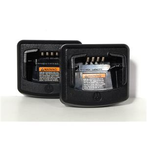 Lot of 2 Motorola RLN6332A Desktop Chargers No Power Supplies