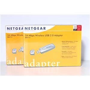 Lot of 2 New Netgear WG111 54Mbps Wireless USB 2.0 Adapter