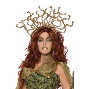 Gold Medusa Snake Headpiece Headband Costume Accessory