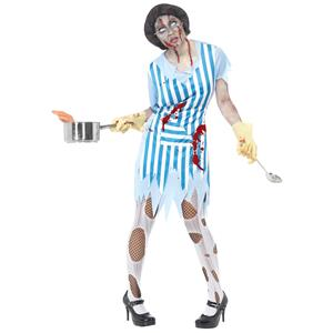 High School Zombie Lunch Lady Adult Costume Size Large