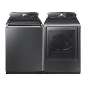 Samsung Top Load Washer & Front Dryer Platinum Set WA52J8700AP / DV52J8700EP