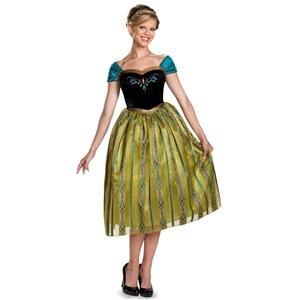 Frozen: Anna Coronation Gown Deluxe Adult Costume Size Small 4-6