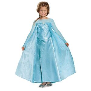 Elsa Ultra Prestige Disney Princess Dress Deluxe Costume Size 3T-4T
