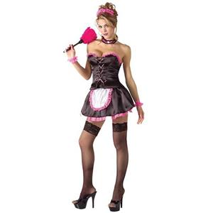 Pinkie French Maid Sexy Adult Costume XS / Small