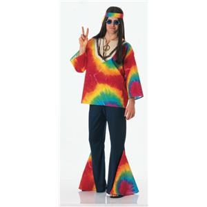 70s Psychedelic Sam Feelin' Groovy Tie Dye Hippie Adult Costume