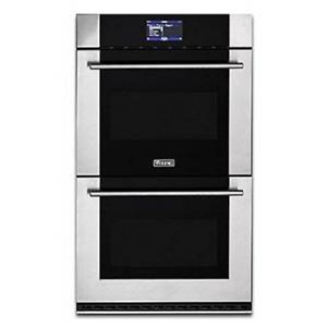 """Viking Virtuoso 30"""" 6 Series Double Thermal-Convection Stainless Oven MVDOE630SS"""