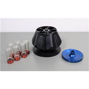 Sorvall A-641 Centrifuge Rotor 41000 RPM w/ Polycarbonate Bottles 75mL & Caps