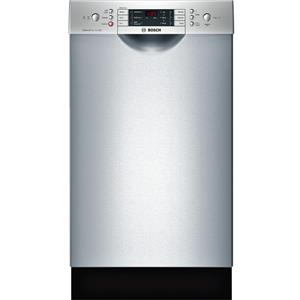 "Bosch 800 18"" 44 DB Touch Control 6 Cycles Full Console SS Dishwasher SPE68U55UC"
