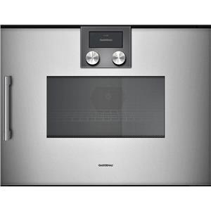 Gaggenau BMP250710 Combi-Microwave Oven 200 Series Full Glass Door Metallic
