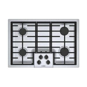 "Bosch 500 Series 30"" 4 Sealed Burners LED Indicator Gas SS Cooktop NGM5056UC"