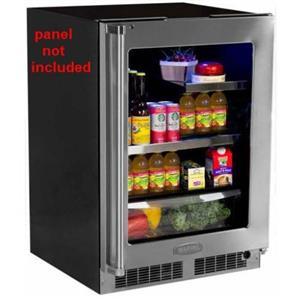 Marvel 24 Inch 2 Cantilever Glass Shelves Built-in Refrigerator MP24BRF3RP