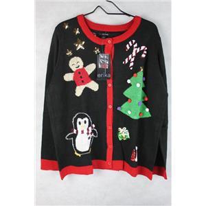 Button Up Christmas Sweater Ladies Size M Buy Jjs Stuff