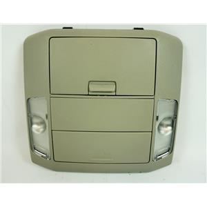 07-13 Toyota Tundra Overhead Console with Map Lights 2 Storage Compartments Mic