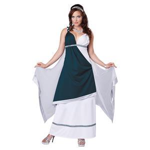 California Costumes Women's Roman Beauty Goddess Queen Long Dress Size Small 6-8