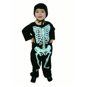 Lil' Bones Pajama Style Skeleton Infant Child Costume Size 1-2