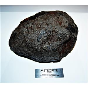 NANTAN IRON METEORITE -Genuine-11,487 grams 25 # 5.2 oz w/Label & COA#14228 416o